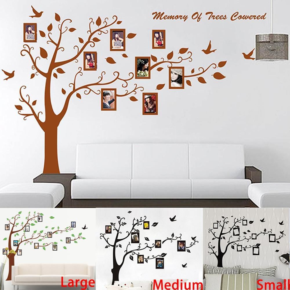 Tree Wall Art Stickers big size brownblack photo frame tree wall stickers zooyoo94ab