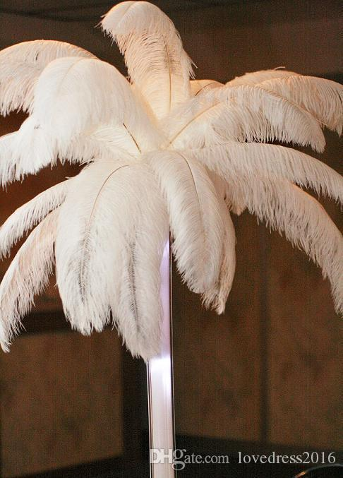 New Arrival 2018 Best Selling Ostrich Feathers Wedding Table Decoration Special Gifts For Party Table Centerpiece