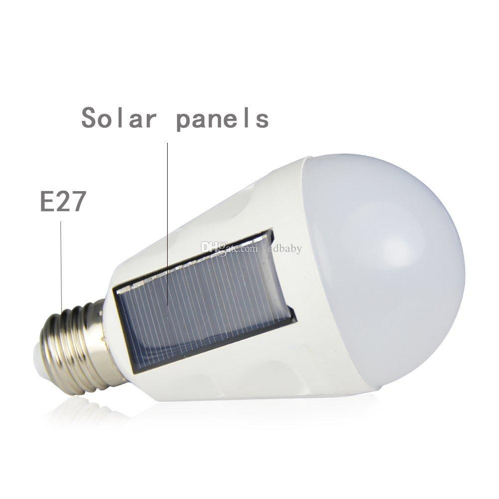 7W E27 Hanging Solar Energy Rechargeable Emergency LED Bulb Light Daylight IP65 Waterproof Solar Panels Powered Night Lamp 85-265V
