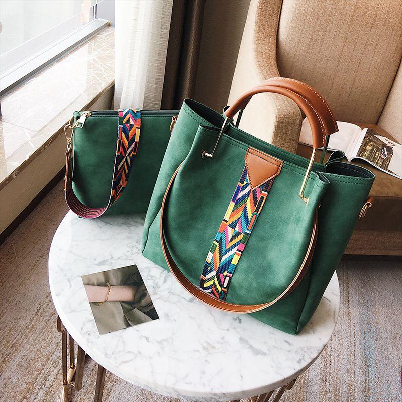 2017 Large Capacity Women Bags Shoulder Tote Bags Bolsos New Women  Messenger Bags Coloured Ribbon Designers Leather Handbags Womens Bags Black  Handbag From ... ea117db39594