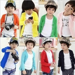 4c14afc68 Boys Girls Knitted Kids Candy Color Cardigan Clothing For Baby Girl ...