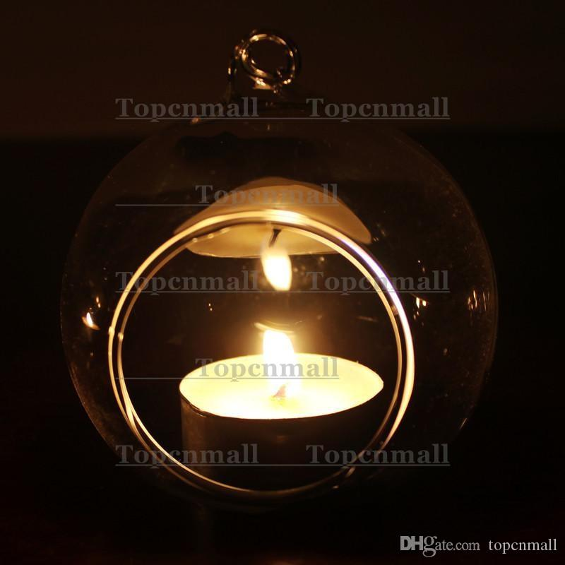 Wholesale Dia 8cm Glass Tealight Holders,Hanging Candle Holders For Wedding Candlestick,Wedding Decor,Home Decor