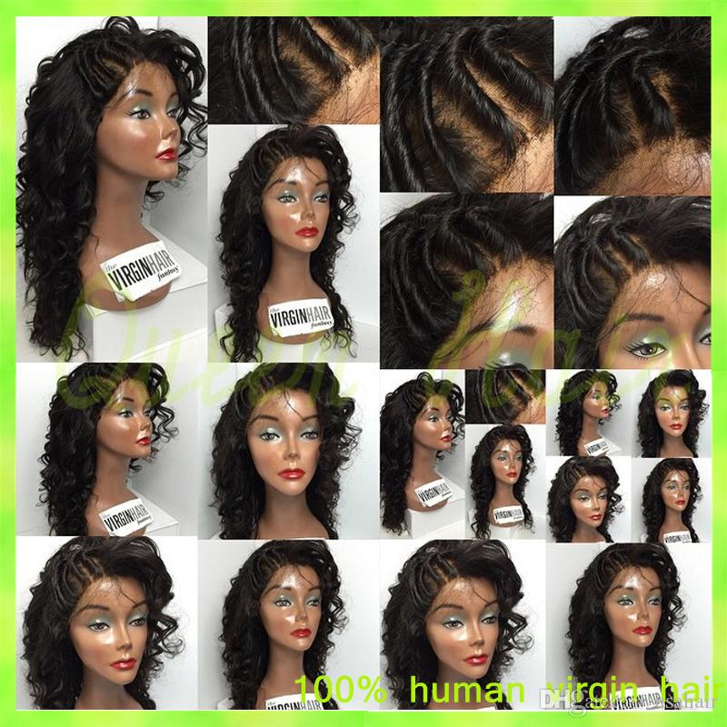 Cheap Brazilian Human Hair Full Lace Wigs Virgin Body Wave Full Lace Wig Glueless Full Lace Wigs Natural Color For Black Women