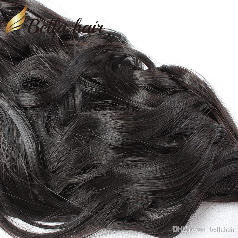 "8""-30"" Hair Bundles Brazilian Virgin Human Hair Weaves Extensions Natural Wave Weft Top Quality Double Weft Bella Hair"