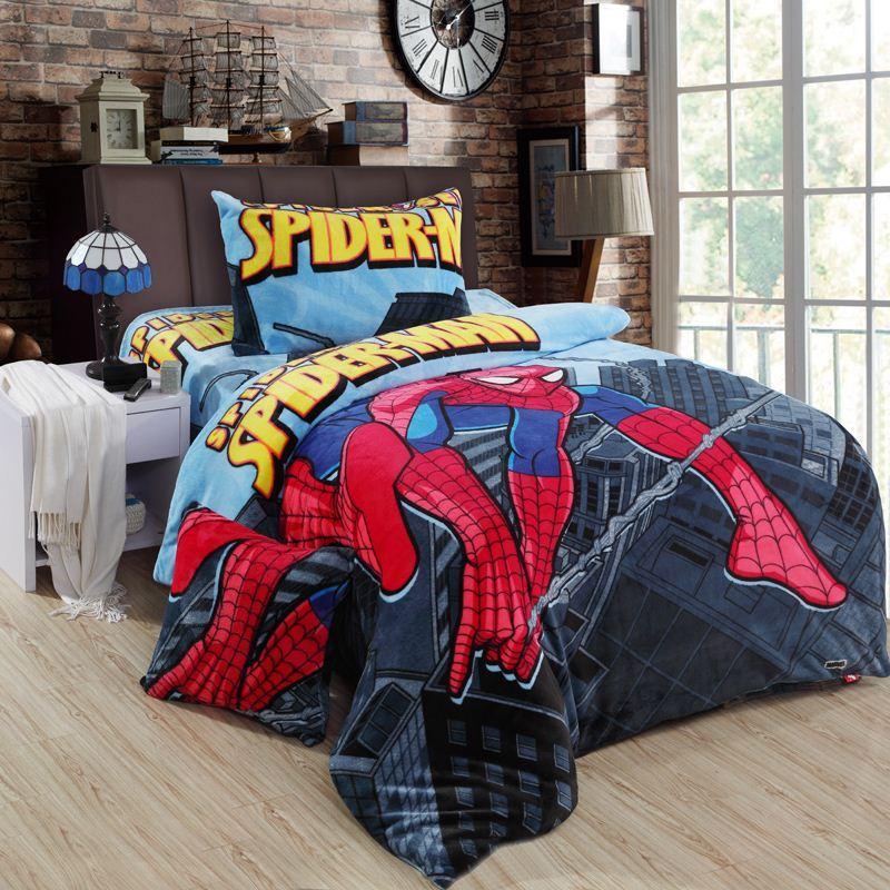 Merveilleux Spiderman Bedding Sets Queen Size Double Twin Bed Sheet Quilt Duvet Cover  Children Boys Bedsheet Bedroom Linen For Kids Toddler Cotton Bedding Best  Duvet ...