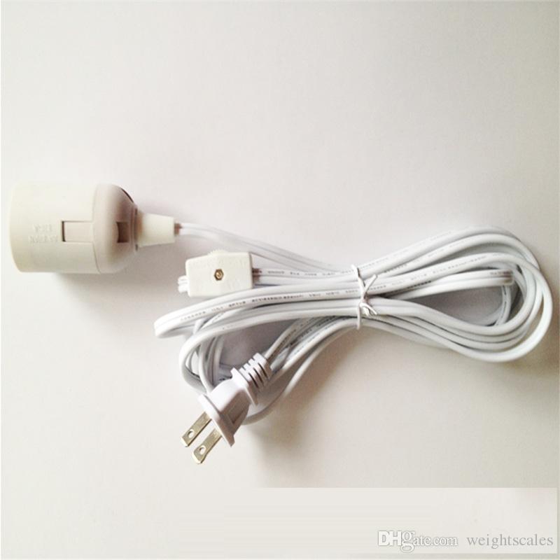 Cables de lámpara IQ Lámpara de araña Alambre Pantalla Cable de alimentación Cable de alimentación Cable de alimentación 110V para Europa y América UL 12 pies