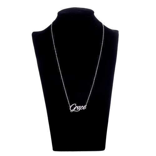 Benutzerdefinierte 18k Gold vergoldet personalisierte Namensschild Halskette Frauen Name