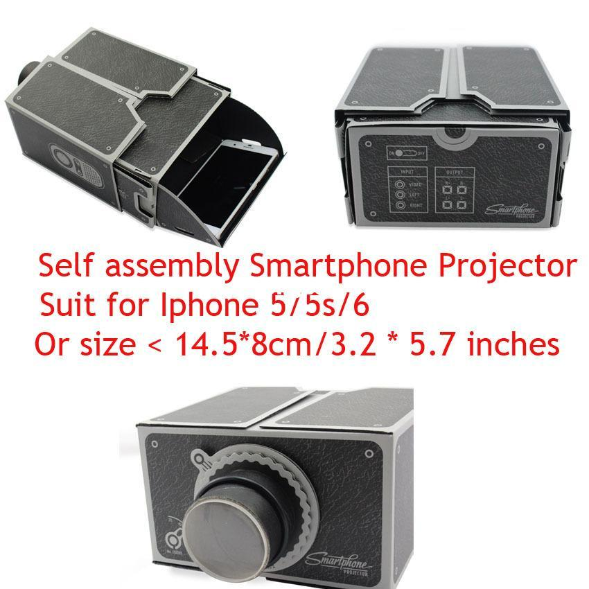 Cardboard Mini Smartphone Projector Easy Assemble Diy ...