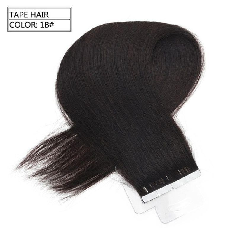 Extensões de cabelo humano de fita de Pu Médio marrom para extensões de cabelo loiro russa fita dupla face cabelo de trama da pele