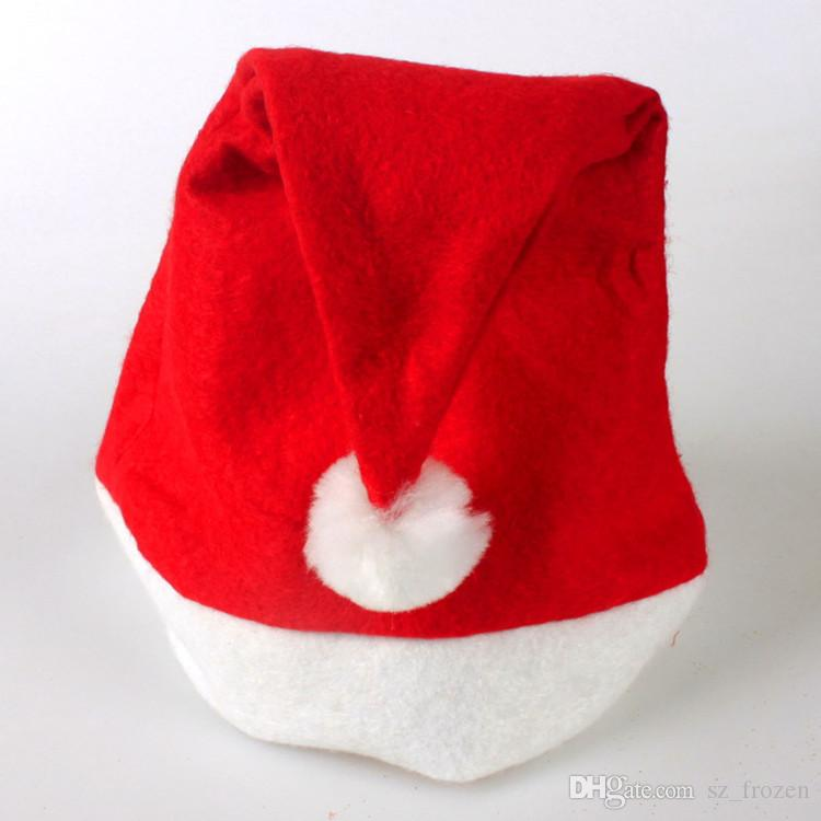 Шляпы рождественских украшений Шляпа Санта-Клауса Высококачественная рождественская шляпа / шляпа Санта-Клауса Симпатичные взрослые шляпы Cosplay для взрослых Бесплатная доставка A-0237