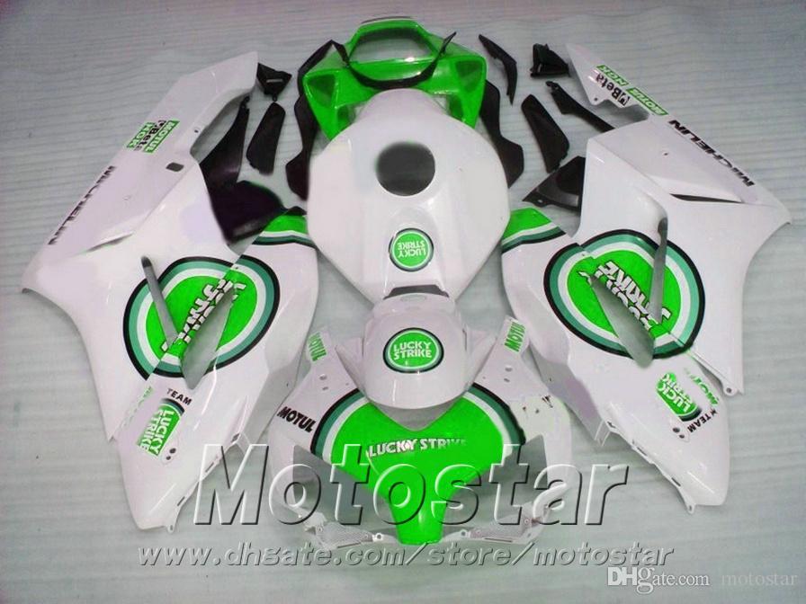 Kit corpo carena di alta qualità stampi ad iniezione HONDA CBR1000 RR 04 05 verde bianco set di carene LUCKY STRIKE 2004 2005 CBR1000RR XB67