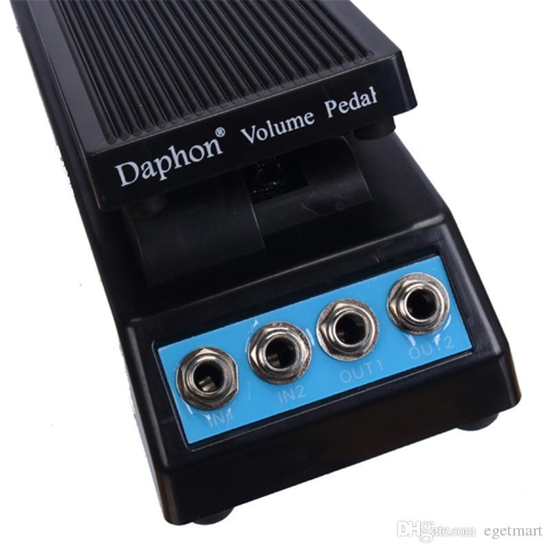 Daphon гитары Педали Stereo Volume DJ Эффект гитары Педали 1511A стерео вход и выход Бесплатная доставка MU0304
