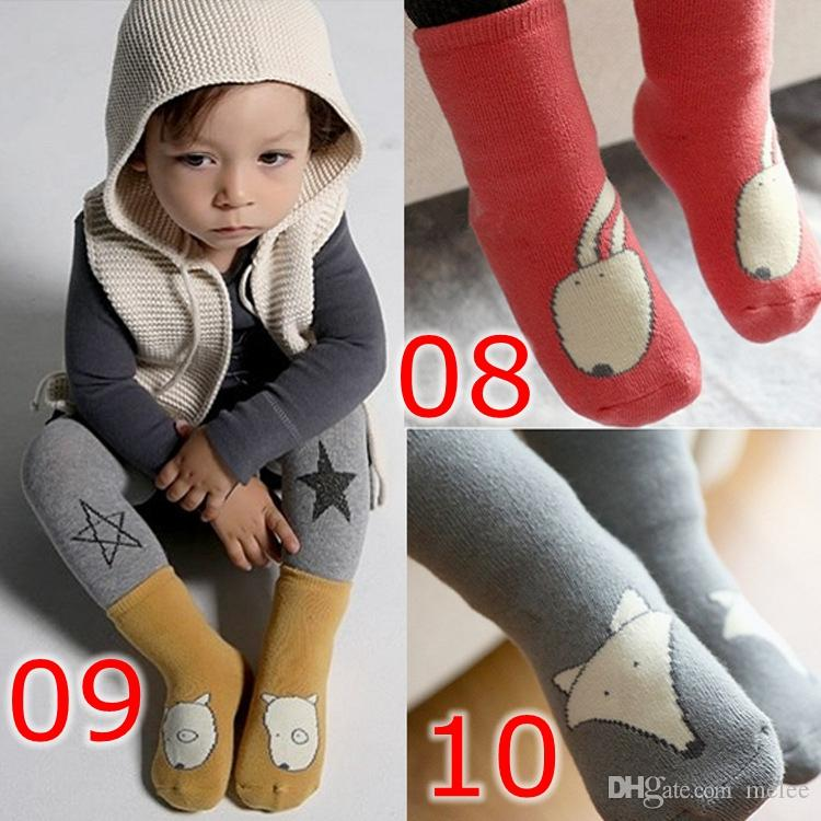 INS Baby Slip antiscivolo in cotone Toddler Infant Cute Cartoon Short Socks Bambini Panda Fox Animal Calze Lunghezza al ginocchio Pavimento calze alla caviglia