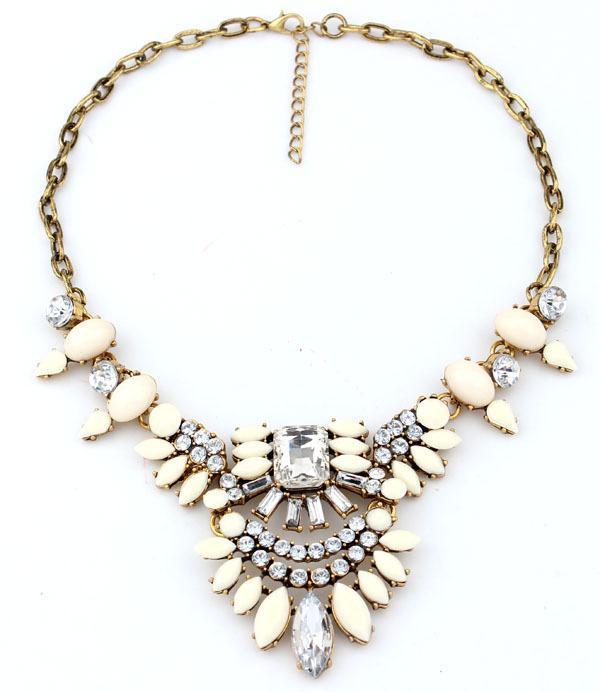 2015 Moda Vintage Brand Bib Collar de la joyería exagerada encanto de la flor de lujo collar de la declaración Queen Head cuentas de acrílico S93679