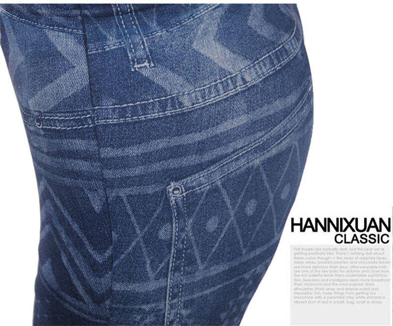 2015 üst satış yeni moda kadın Denim Jeans tayt Jeggings seksi Dokuz tayt Denim pantolon koyu Blue/ ücretsiz kargo