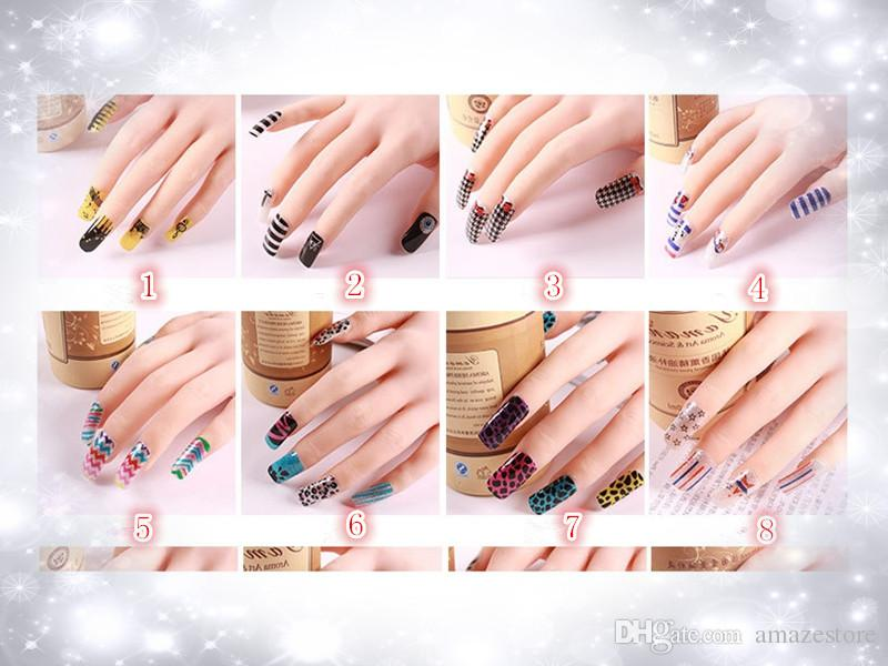 2015 Nueva 3D Mix Color Floral Design Nail Art Stickers Calcomanías Manicura Hermosa Accesorios de moda Decoración
