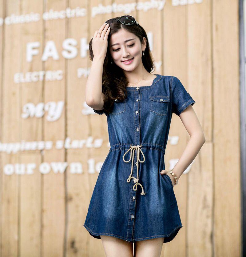 Black dress denim shirt mini