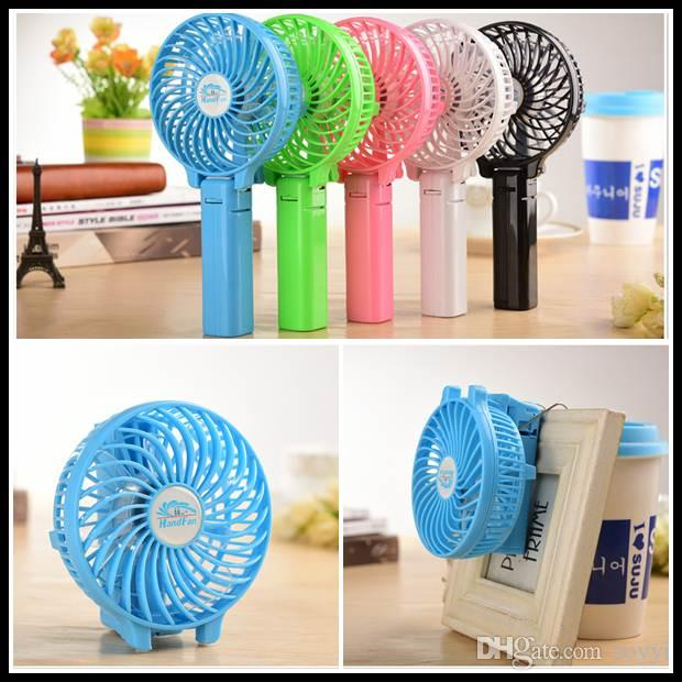 free dhl hot sale hf308 mini fan portable fan handgrip usb fans foldable blushless cooler with clip for office pram bed