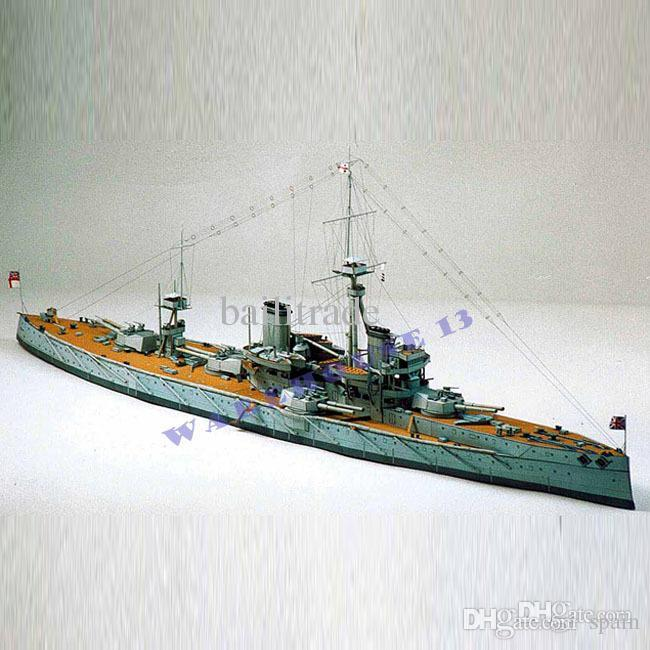 Free shipping Paper Model Ships British battleship DREADNOUGHT 1:250 /64CM  long Military weapons 3d puzzle toy model papercraft