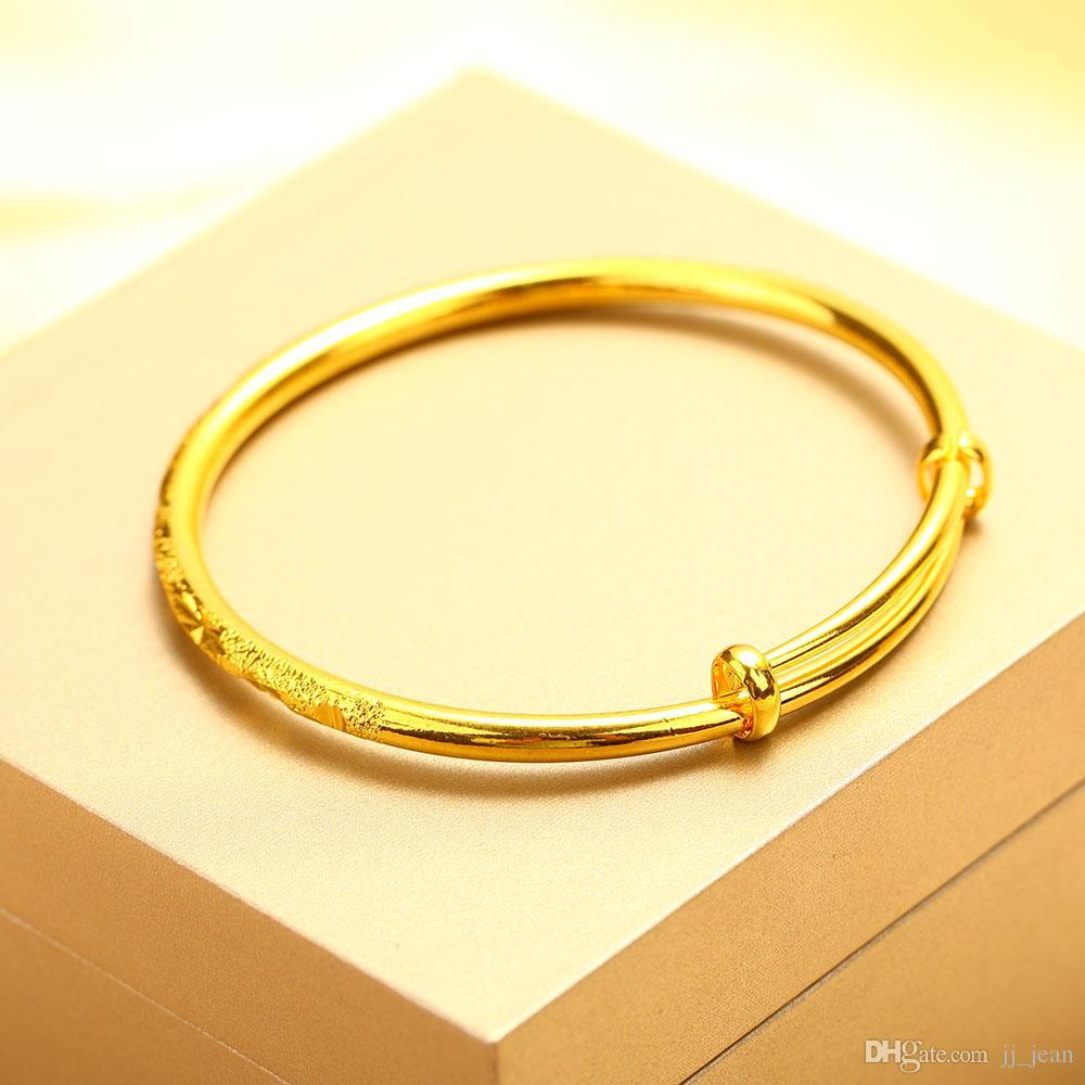 24 K Altın Kaplama Bilezik Yeni Stil Kadın Erkek Lüks Güzel Takı Ayarlanabilir Sıcak Satış Sınırlı Promosyon Gerçek Bilezikler Ücretsiz kargo