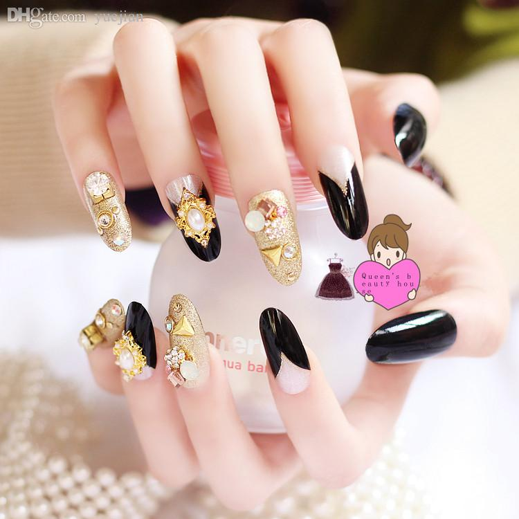 Wholesale 3d Fake Nails Faux Ongles Full Nails Tips Art Decoration ...