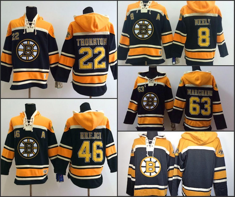 best sneakers 1ede8 9e976 Boston Bruins Hoodie Blank 8 Cam Neely 46 David Krejci 63 Brad Marchand 22  Thornton Old Time Hockey Jersey Hoodies Sweatshirt stiched S-3XL
