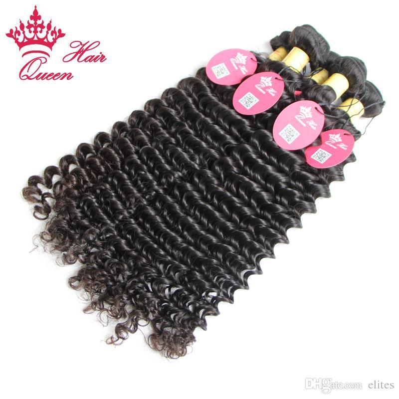 Queen Hair Official Store Peruviaanse Krullende Virgin Hair Extensions Diepe Golf Diep Krullend Maagd Haar Factory Out Prijs 12 tot 28 inch