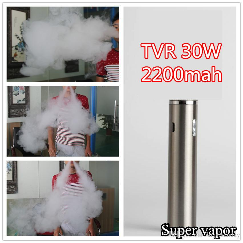 TVR 30W Box Mod batterie 2200mah E Cig USB Passthrough Vape Cigarette Electronique pour 0.5-1.0ohm Atlantis Réservoir