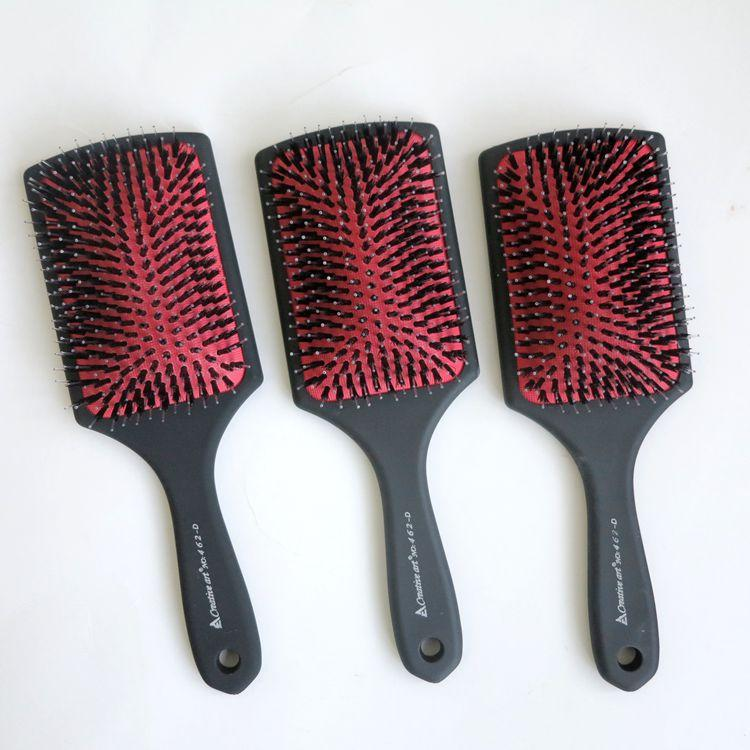 Top Quality Hair Brush Comb Plastic Handle With Rubberized Coated