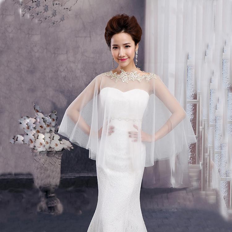 2018 2015 Hot Sell Lace Jacket Bolero Bridal Wedding Wrap