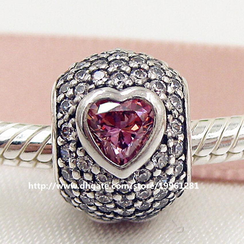8b8b70b6b 2016 Valentine'S Day 925 Sterling Silver Captivating Pave Heart Charm Bead  With Cz Fit European Pandora Style Jewelry Bracelets Necklaces Canada 2019  From ...