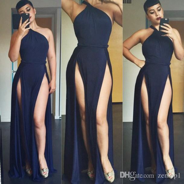 Sexy Club Dresses Floor Length Bodycon Dresses For Womens O Neck ...