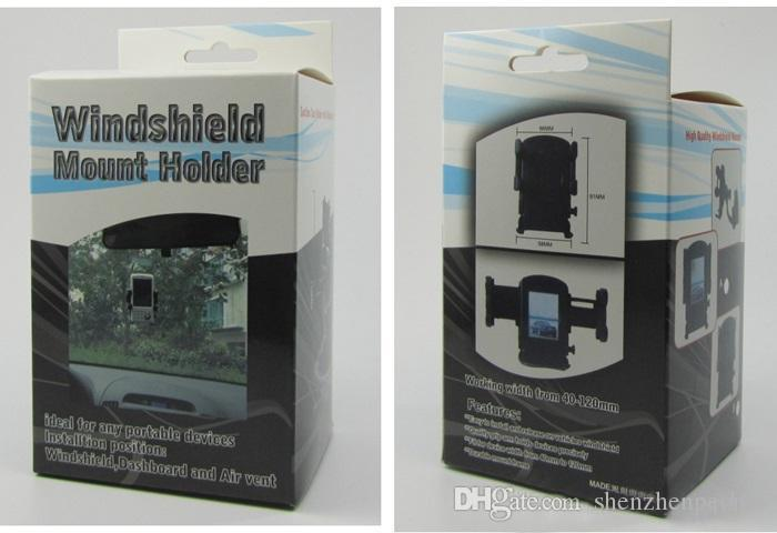 DHL العالمي الزجاج الأمامي سيارة جبل حامل قابل للتعديل عرض الزجاج الأمامي مهد للهاتف الخليوي الهاتف المحمول لهتك بلاك بيري
