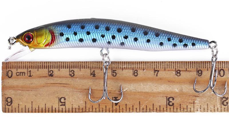 Artificial plástico Minnow láser de agua dulce bajo pesca señuelos 10 cm 8.5 g Profundidad de natación 0.6-1.8 m cebo de pesca duro