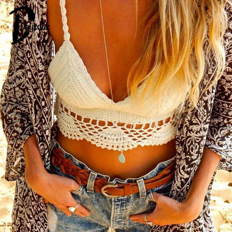 53ac87e9151b5 Wholesale-DayLook 2015 Sexy Crochet Women Crop Top Knitted Bra ...
