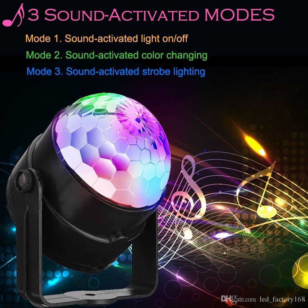 Disco Dj Stage Lighting Led Party lights 2Nd Generation 3w Strobe Dance Lights Sound Activated lamp Karaoke Machine Kids Birthday