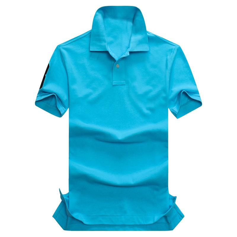 2017 nuova camicia di polo di vendita calda di estate di alta qualità della bandiera americana degli uomini di polo della manica degli uomini di polo della manica di marca degli uomini americani di polo 309 # trasporto libero del cappotto dell'uomo