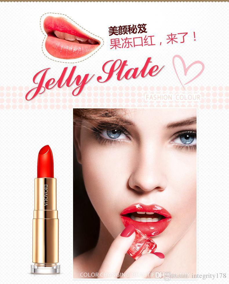 2016 nouvelle arrivée maquillage 3 couleurs 3.8g gelée à lèvres rouge à lèvres hydratant brillant à lèvres longue durée d'hydratation réapprovisionnement des lèvres