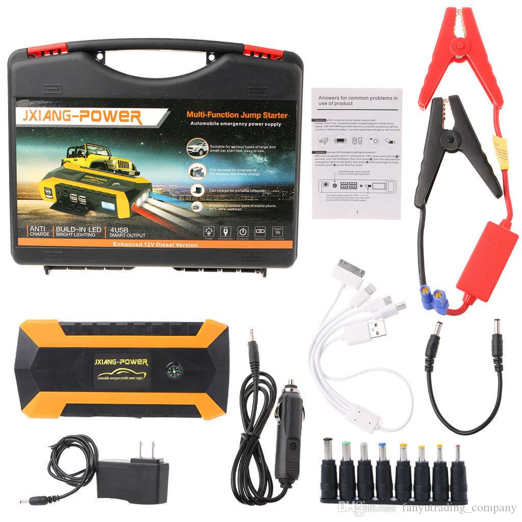 Car Jump Pack >> Professional 89800mah 12v 4 Usb Car Jump Starter Pack Booster Charger Battery Power Bank Free Shipping