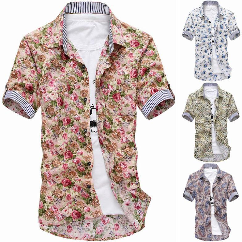 Pink floral shirt mens south park t shirts for Mens short sleeve floral shirt