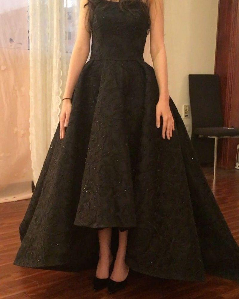 Vestidos formales de encaje negro por la noche Granos de alta calidad Vestidos sin tirantes elegantes Tallas grandes Vestido de fiesta Flores 3d