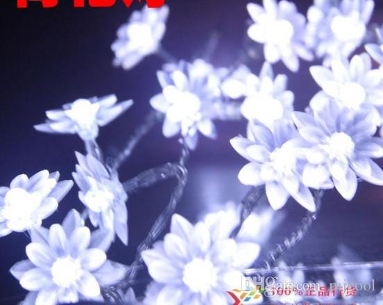 Battery 5 40 lotus lights Christmas decorations holiday lights marriage room to decorate outdoor garden decorative waterproof lamp