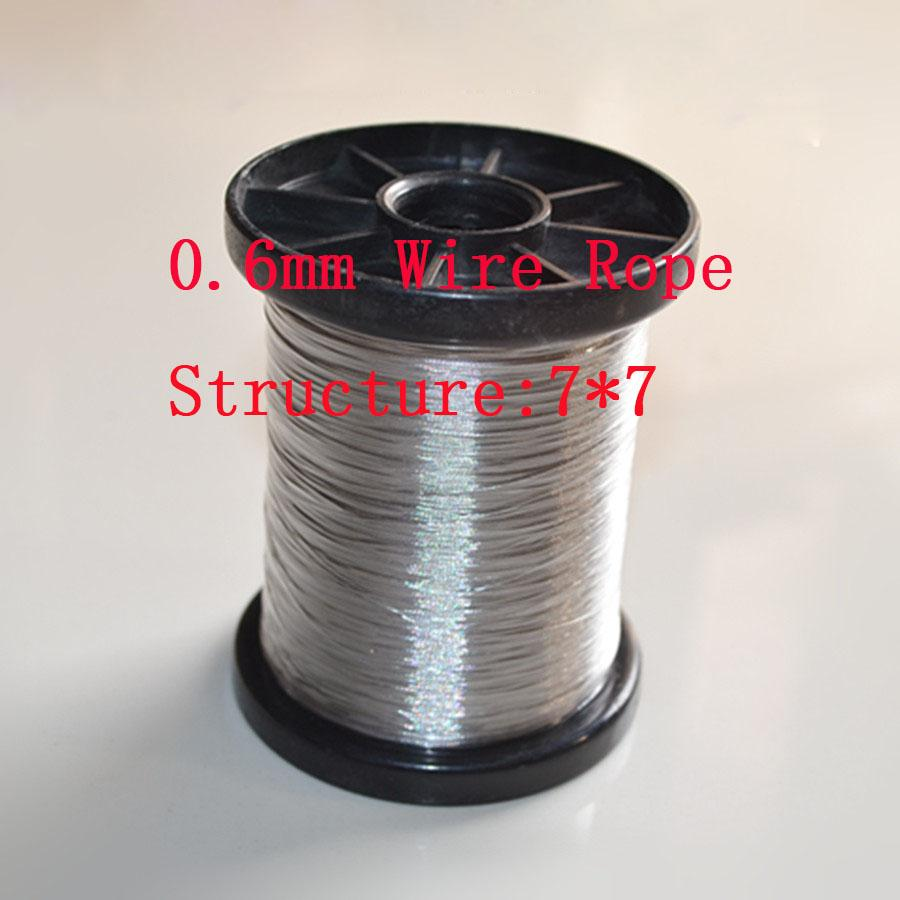 2018 0.6mm , Ss304 Stainless Steel Wire Rope Fishing Wire, Structure ...