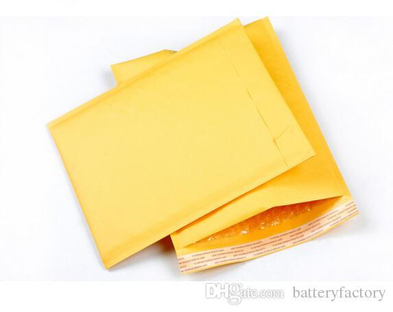 Bolsas de papel amarillo del sobre del embalaje de la burbuja Bolsas de burbuja del PE tamaño externo 110 * 130m m, 150 * 200m m, 200 * 250m m, cojín de los anuncios publicitarios de la burbuja de 230 * 280m m Kraft