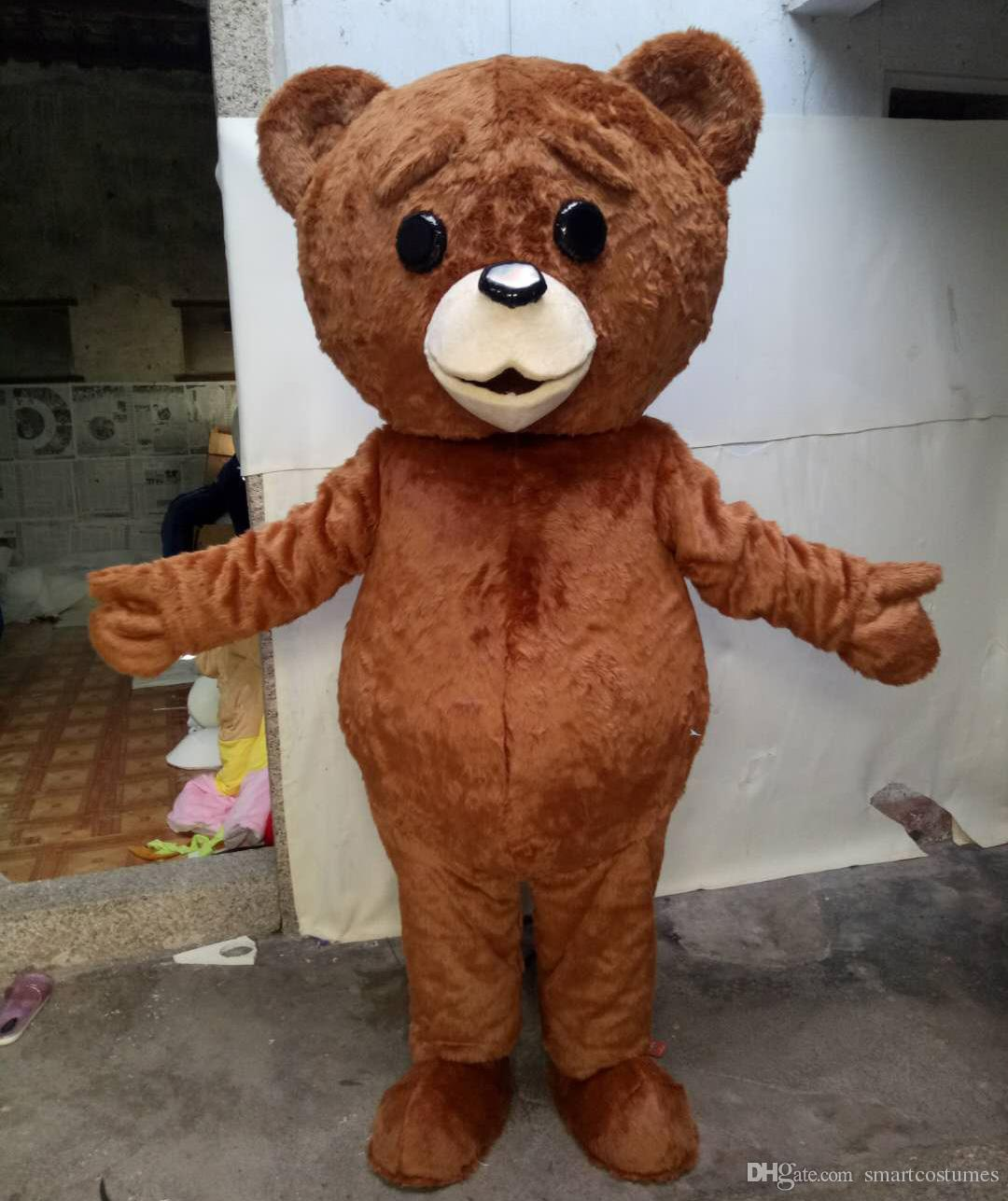 100% Real Photos of Furry Brown Colour Teddy Bear Mascot Costume for Adults to Wear for Sale Teddy Bear Costume Adult Teddy Bear Costume Teddy Bear Mascot ... & 100% Real Photos of Furry Brown Colour Teddy Bear Mascot Costume for ...