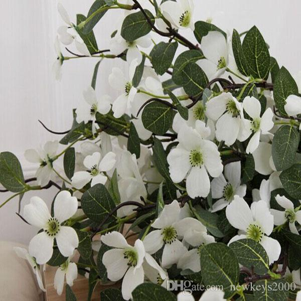2018 40inch tall pear apple blossoms dogwood artificial silk flower 2018 40inch tall pear apple blossoms dogwood artificial silk flower in white 4 diameter summer wedding floral home garden hotel bar decoration from mightylinksfo