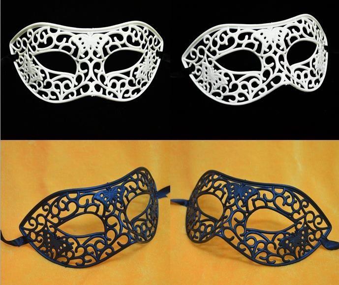 Party mask hombres mujeres niños ahuecan eyemask Halloween carnaval Venice dancing party mask Evento festivo Suministros blanco negro REGALO XMAS