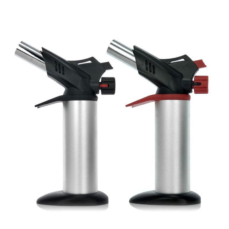 Grande venda! Criativo novidade jet duplo motor da aeronave chama design da tocha de gás jato mais leve butano, infláveis leves, de bloqueio e funções de comutação