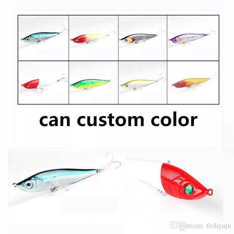 Fishing Lure Minnow Hard bait Fresh Water Shallow Water Bass Walleye Minnow  Fishing Tackle offshore angling 9g Custom color