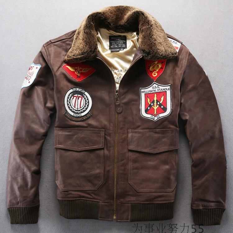 2017 Usa Standard Force Flight Suit Avirex Leather Jackets Wool ...